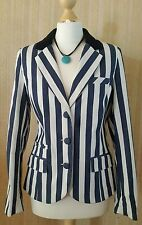 H! By HENRY HOLLAND Blue Stripe Summer Blazer Size 14