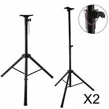 Pair of PA Speaker Stand Portable Tripod Mounting Plate 60kg Load DJ Disco