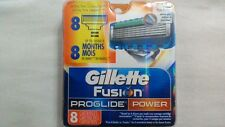 8 Gillette Fusion Proglide POWER Razor Blades NEW 8 PACK 100% AUTHENTIC, GENUINE