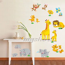Hot Jungle Zoo Animal Wall Decor Vinyl Decal Sticker Removable Nursery Kids DIY