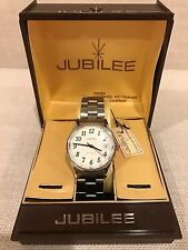 Jubilee by Longines - Whittnauer Watch Vintage NOS White dial w/ Applied Markers