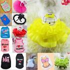 Cottom Pet Puppy Small Dog Cat Pet Clothes Dress Vest T Shirt Apparel Clothes