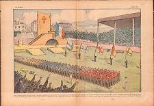 Congrès JOC JEC ACJF Parc des Princes de Paris Chemise Lacoste 1936 ILLUSTRATION