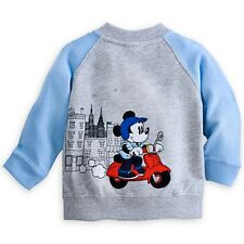 DISNEY STORE MICKEY MOUSE SOFT KNIT RAGLAN JACKET FOR BABY 12/18 MOS NWT