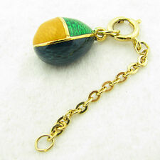 Joan River Queen of Romania Guilloche Enamel Egg Charm Pendant