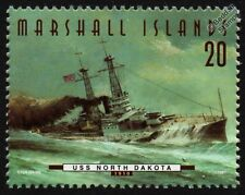 USS NORTH DAKOTA (BB-29) Delaware Class Battleship Warship Stamp (1997)