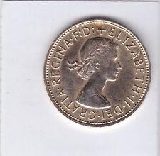 One penny gran bretaña 1967 Elizabeth II Great Britain remolque