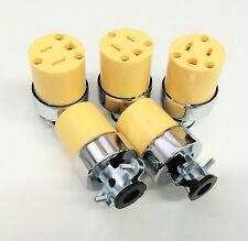 5 Pc Female Extension Cord Electrical Wire Repair Replacement Plug End Set