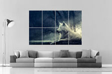 LOUP BLANC WHITE WOLF Wall Art Poster Grand format A0 Large Print