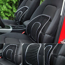 New black waist mesh support ventilation and massage cushion  pad cover for car