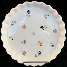 "PETITE FLEUR Villeroy & Boch Quiche Dish 8.25"" dia. NEW NEVER USED Luxembourg"