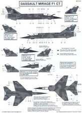 Berna Decals 1/72 DASSAULT MIRAGE F1 CT French Jet Fighter