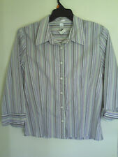 Old Navy Women's Long Sleeve Striped  Perfect Fit Stretch Top/Shirt  sz  XL