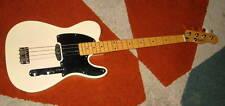 Fender Squier Vintage Blonde Telecaster Electric Bass Guitar RARE With Gig Bag