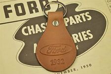1932 FORD COUPE ROADSTER GENUINE TANNED LEATHER KEYCHAIN/FOB
