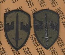 US Army Military Assistance Command Vietnam MACV OD Green & Black BDU patch m/e