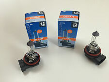 2 x OSRAM H8 LAMPE 12V 35W 64212 PGJ19-1 GLÜHLAMPE MADE IN GERMANY LAMP BULB