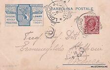 LONIGO 1909 - ESPOSIZIONE AGRICOLA INDUSTRIALE - TESTATINA PUBBLICITARIA
