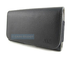 BLACK PREMIUM LEATHER BELT CLIP POUCH CASE FOR SAMSUNG GALAXY NOTE III 3