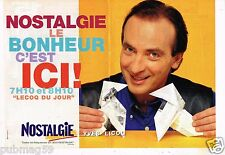 Publicité Advertising 1997 (2 pages) Radio Nostalgie avec Yves Lecoq