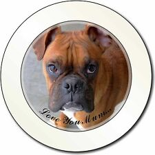 Red Boxer Dog 'Love You Mum' Car/Van Permit Holder/Tax Disc Gift, AD-B22lymT