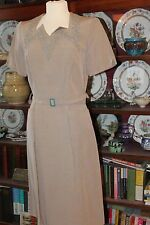 Vintage 1940's Brown Day Dress WW2