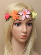 flower head garland hair band brow band boho festival elastic 6037 ladies girls