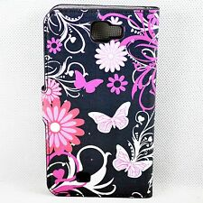 Stand Leather Flip Pouch Wallet Cover Case For Samsung Galaxy Note 2 II N7100