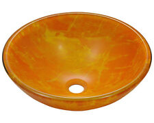 MR Direct 605 Yellow/Orange Double Layer Glass Vessel Sink