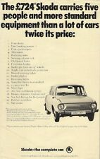 Skoda S100 & S110 c1973 UK Market Advertisement Style Leaflet Sales Brochure