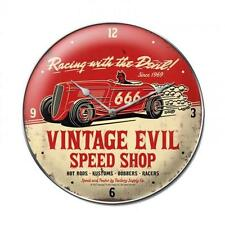 Hot Rod Rat Speed Vintage Evil Metal Clock Man Cave Garage Body Shop Club fsc017