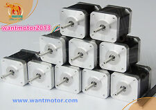 Ship From EU! 10PCS Nema17 Stepper Motor 42BYGHW811 4800g.cm 2.5A 48mm 2Phase