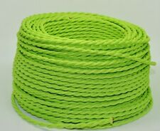 GREEN ~ Vintage Style Clothed Covered Fabric Lamp Cord { Sold by Foot } ~ by PLD