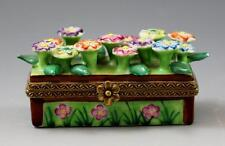 French Atelier Chamart Peint Main Limoges Porcelain Daisy Trinket Box 55/250