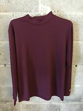 Under Armour Solid Maroon Large Heat Gear Fitted Active Wear Shirt By Fabnit