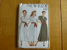Vintage New Look Sewing Pattern 6421 Sizes 8-18 Dress with Crossover Front NEW