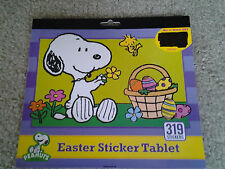 SNOOPY & PEANUTS GANG EASTER STICKER TABLET containing 319 asst STICKERS retired