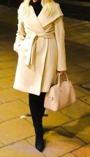 Beige/camel wool and cashmere coat