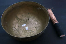 S415 Collectible 7 metal mix hand hammered Gift NOTE B singing bowl Mallet Tibet