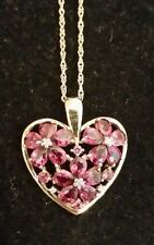 14k yellow gold 2.5 ct tw Brazilian Rose Blush Garnet pendant with chain
