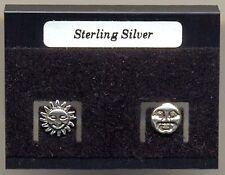 Sun & Moon Sterling Silver 925 Studs Earrings Carded