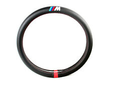 M Performance BMW Black Carbon Fiber Car Steering Wheel Cover Decoration 38CM
