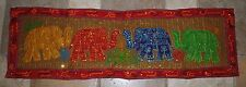 New Fair Trade Elephant Table Runner or Wall Hanging Ethnic Ethical India Hippy