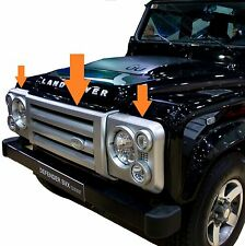 SVX stile griglia frontale Kit Per Land Rover Defender 90 110 HEAD LIGHT circonda