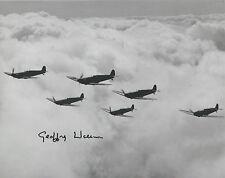 GEOFFREY WELLUM Signed 10x8 WW2 SPITFIRE PILOT Battle Of Britain FIRST LIGHT COA