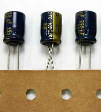 25x Panasonic FC 220uF 25V Low-ESR Capacitor caps 105C 8x11mm USA Seller