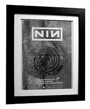 NINE INCH NAILS+Down Spiral+POSTER+AD+RARE ORIGINAL 1995+FRAMED+FAST GLOBAL SHIP