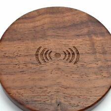 USA Bamboo Wood Qi Wireless Charger Mini Charge Pad For Smart Phone