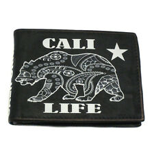 Genuine Leather Wallet Cali Life Bear
