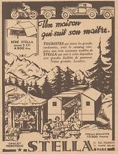 Z8552 Chalet remorque STELLA - Pubblicità d'epoca - 1931 Old advertising